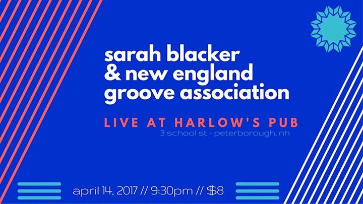 Sarah Blacker & New England Groove Association at Harlow's